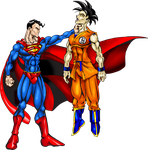 Superman Owns Goku by Toadman005