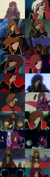 Captain Harlock's Best Stoic Faces # 1 by TheWolfPoet23