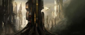 hill side city by venkatvasa