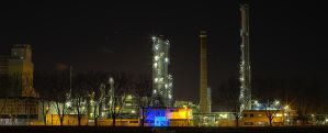 Factory by Night by BlackGalaxy13