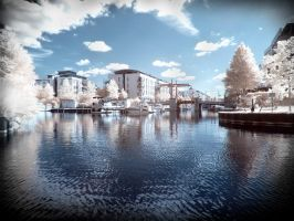 Berlin/Brandenburg Riverside infrared by MichiLauke