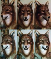 Red Wolf Mask by netherdenstudio
