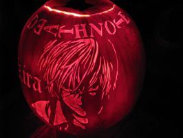 Death Note Pumpkin 2nd Shot by tsukiyamas