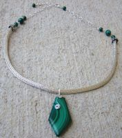 Malachite Necklace Finished by Mommy-of-Monsters