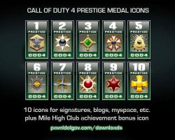 Call of Duty 4 Prestige Icons by Artistpavel