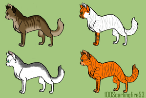 Cat Adoptables Closed by 100Scarlingfire53