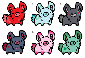 Bunny pig adoptables - 5 points :OPEN: by xRainbow-adoptsx