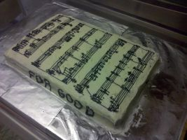 Wicked 'Sheet' Music Cake by wickedwitchinc