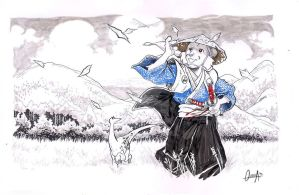 Usagi Yojimbo commission by mistermoster