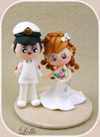 Wedding cake topper by LolleBijoux