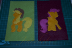 mlp AJ and scootaloo works in progress by Blindfaith-boo