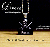 Pirate Scrabble tile pendant by ElectrikPinkPirate