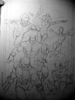 Uncanny X-Men First Class 2 Pencils by rogercruz