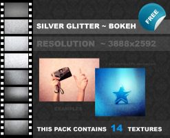 Silver Glitter Bokeh PACK by xChristina27x