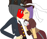 Steampunk Gena and Steve by PrincessStarwberry