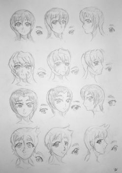 Character sketch 1 normal girl part 1 by JammeringJohn7