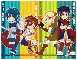BRAWL bookmarks by Chancake