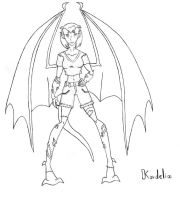 New Halloween Town - Kordelia the Gargoyle WIP by REDDISH-MUSE