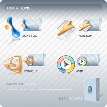 MEDIA PLAYER dock icons by uriel