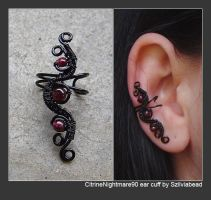 CitrineNightmare90 ear cuff by bodaszilvia