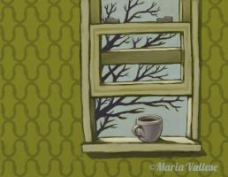 Coffee at the Window Sill by Retro-Sorrento
