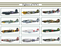 Fighters of WW2 Calendar by WS-Clave