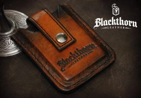 Custom Wallet Front by Blackthornleather