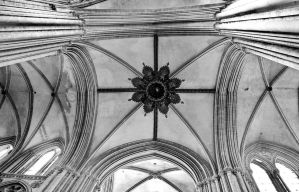 Cathedral of Bayeux - the ceiling by UdoChristmann