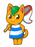 Animal Crossing - Tangy Sticker by Sparkle-And-Sunshine