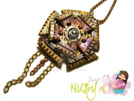 Mechanical Flower Necklace by colourful-blossom