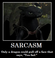 Toothless - SarcasmFail by StarrySunlight