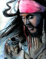 Jack sparrow Aquarell by Sternentee