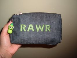 Rawr Pencil Bag by sky-lover10