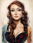 Bust Sketch Port__Zoanna by BlackBirdInk
