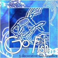 Go Fish - fish brush set 1 by sleepwalkerfish
