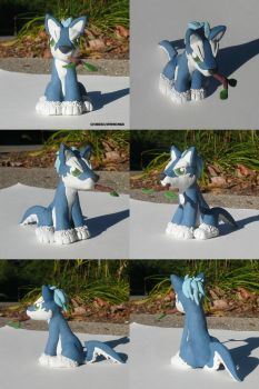 Repede Puppy Sculpture by ChibiSilverWings