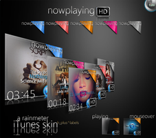 nowplayingHD_Rainmeter by hpluslabels