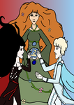 Mother, Son and Daughter: Ancient Myth by SquiddlePrincess