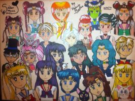 Sailor Sonic Group Painting by monsterhighlover3