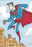Superman - Personal Sketch Card by tyrannus
