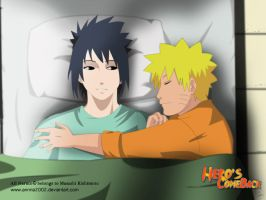 sasunaru and bed? by annria2002