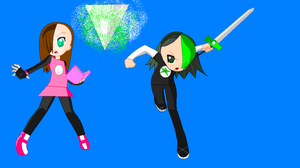 Lexie and Mystery: From Mario and Sonic Crossover by Lexie-Kamba
