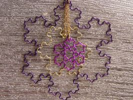 Purple Brass and Amethyst Koch inspired necklace by shaunnaf