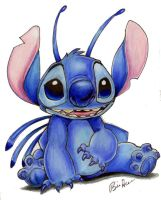Colored pencil Stitch by Hesstoons