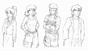 Metal Gear Solid Sketches by JadeRaven93