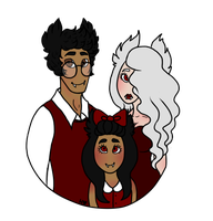 theo, morgana, and viktoria by AskNicolettesBabs