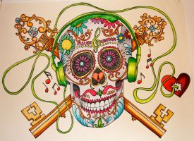 Candy Skull Beats by designgirl2