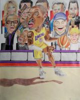 Lakers Celebrity Fans by Rollingboxes