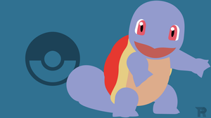 Squirtle Minimalist Red by turpinator77