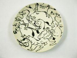 Pigs and Birds Plate by StephHolmes